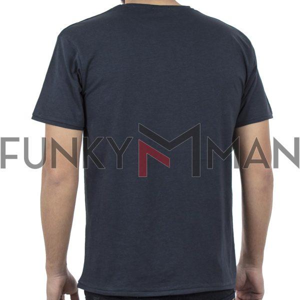 Κοντομάνικο Μπλούζακι Flama T-Shirt DOUBLE TS-94 Navy