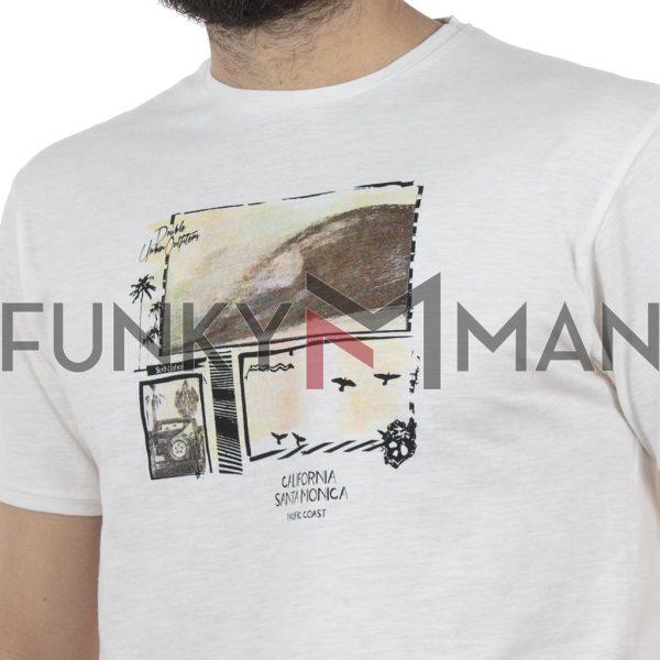 Κοντομάνικο Μπλούζακι Flama T-Shirt DOUBLE TS-94 Λευκό