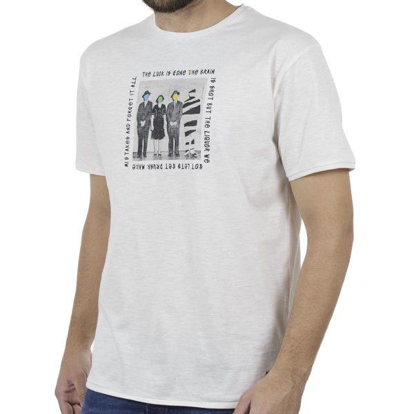 Κοντομάνικη Μπλούζα Flama T-Shirt DOUBLE TS-94W Λευκό