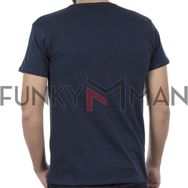 Κοντομάνικο Μπλούζακι Crew Neck T-Shirt DOUBLE TS-95 Μπλε