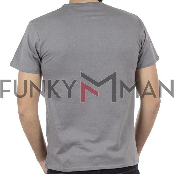 Κοντομάνικο Μπλούζακι Crew Neck T-Shirt DOUBLE TS-95 Γκρι