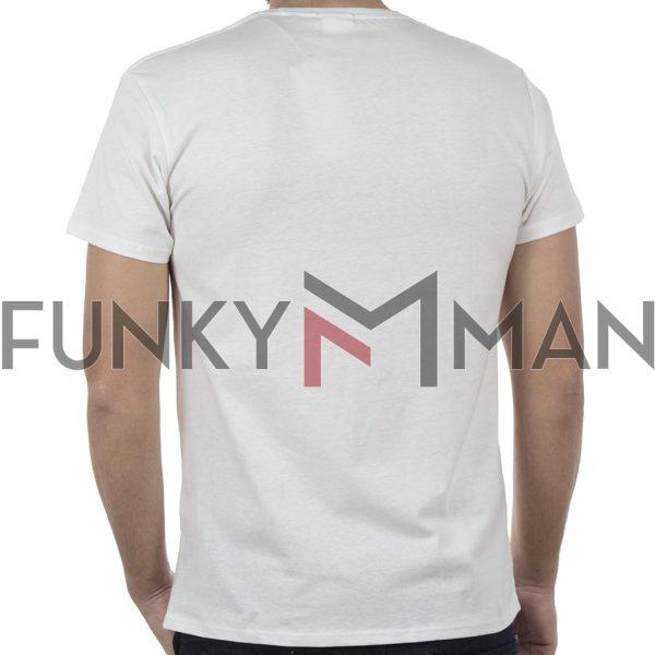 Κοντομάνικο Μπλούζακι Crew Neck T-Shirt DOUBLE TS-95 Λευκό