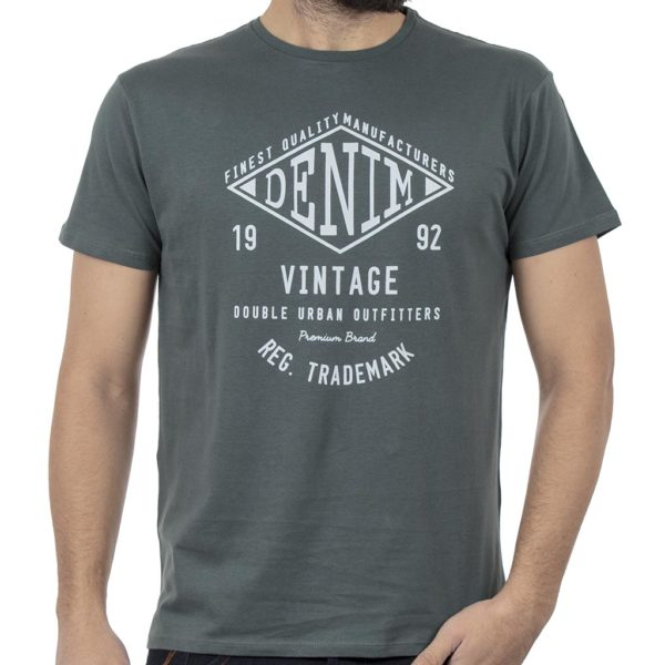 Κοντομάνικο Μπλούζακι Crew Neck T-Shirt DOUBLE TS-95 Pesto