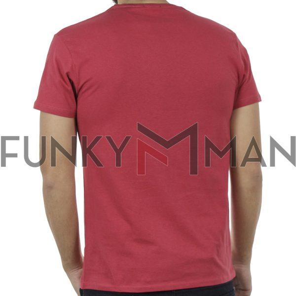 Κοντομάνικο Μπλούζακι Crew Neck T-Shirt DOUBLE TS-95 Κόκκινο