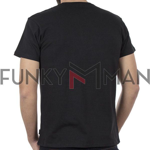 Κοντομάνικο Μπλούζακι Crew Neck T-Shirt DOUBLE TS-97 Μαύρο