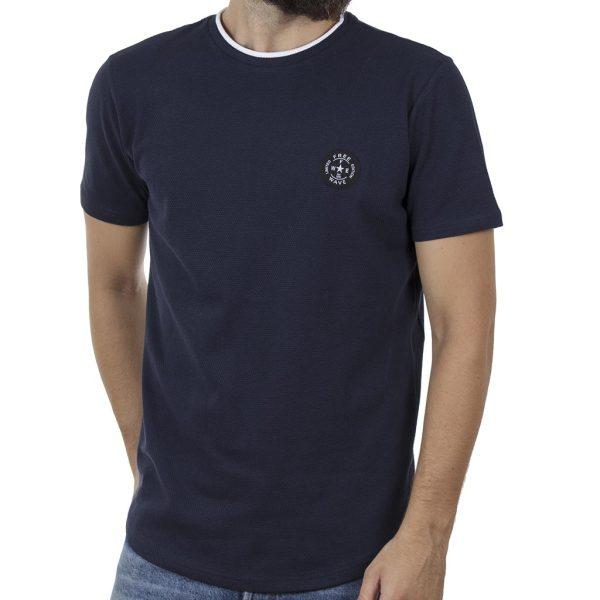 Κοντομάνικη Πικέ Μπλούζα T-Shirt FREE WAVE 91107 Μπλε