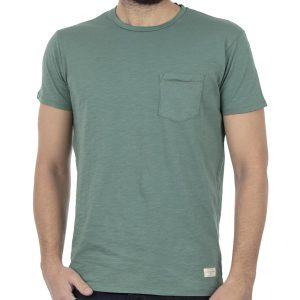 Κοντομάνικη Μπλούζα T-Shirt FUNKY BUDDHA FBM001-04118 Χακί