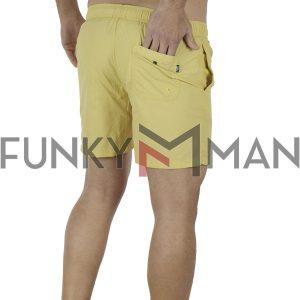 Μαγιό Βερμούδα FUNKY BUDDHA FBM001-16119 ανοιχτό Κίτρινο
