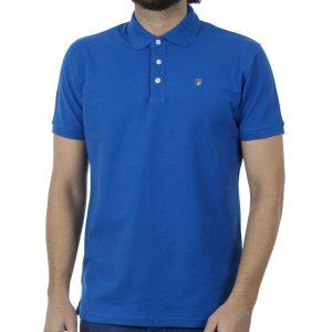 Κοντομάνικη Μπλούζα με Γιακά Polo Garage55 GAM201-11119 Μπλε