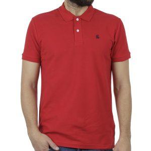 Κοντομάνικη Μπλούζα με Γιακά Polo Garage55 GAM200-11119 Κόκκινο