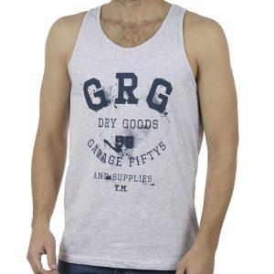 Αμάνικο Μπλουζάκι Garage55 GAM232-04119 ανοιχτό Γκρι
