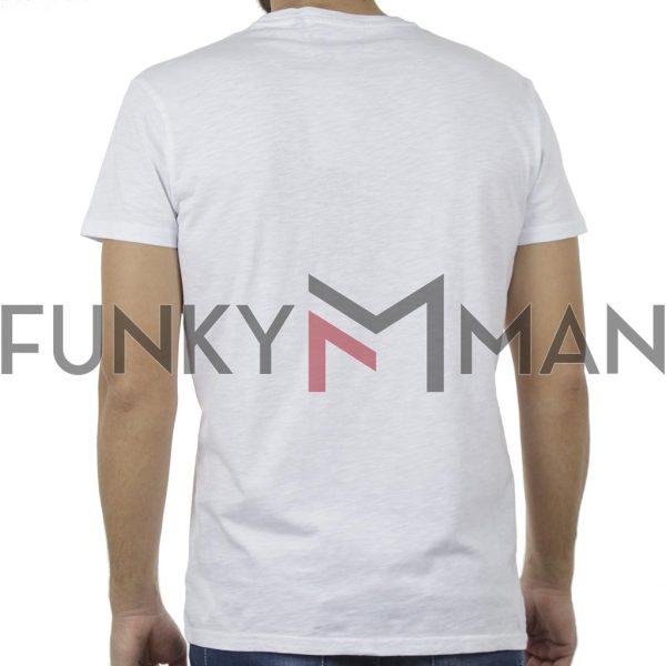 Κοντομάνικη Μπλούζα T-Shirt Garage55 GAM240-04119 Λευκό