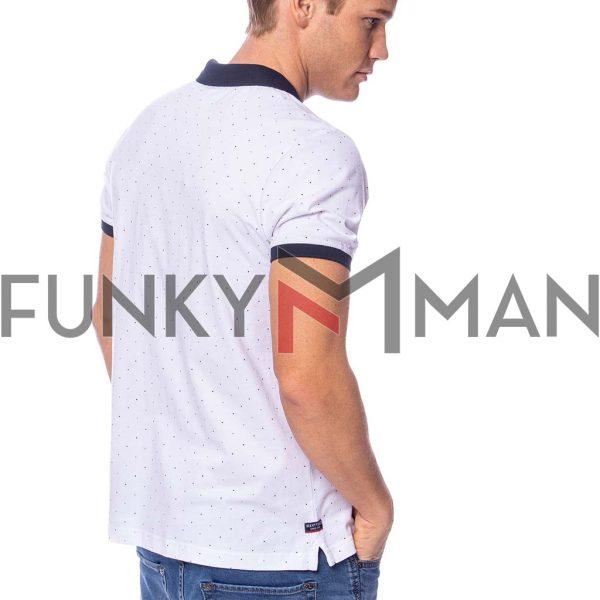 Κοντομάνικη Μπλούζα Single Jersey POLO HEAVY TOOLS DIVIDE Λευκό