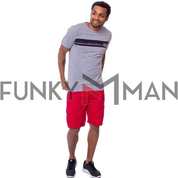 Κοντομάνικη Μπλούζα Single Jersey T-Shirt HEAVY TOOLS MOTIVATION Γκρι