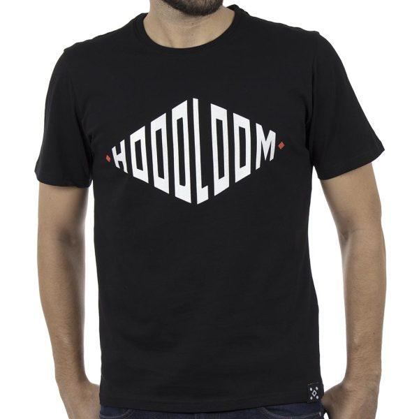 Κοντομάνικο Μπλουζάκι Jersey T-Shirt HOODLOOM HSB-1-10 Rhombus Μαύρο
