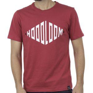 Κοντομάνικο Μπλουζάκι Jersey T-Shirt HOODLOOM HSB-1-10 Rhombus Κόκκινο