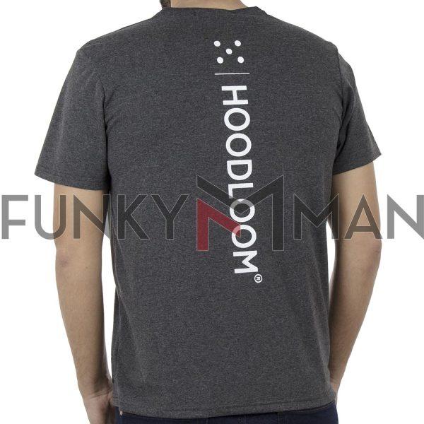 Κοντομάνικη Μπλούζα Jersey T-Shirt HOODLOOM HSB-1-19 Back print Ανθρακί