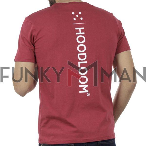 Κοντομάνικη Μπλούζα Jersey T-Shirt HOODLOOM HSB-1-19 Back print Κόκκινο