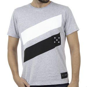 Κοντομάνικο Μπλουζάκι Jersey T-Shirt HOODLOOM HSB-1-6 Γκρι