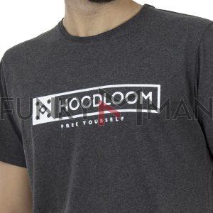 Κοντομάνικο Μπλουζάκι Jersey T-Shirt HOODLOOM HSB-1-7 Ανθρακί