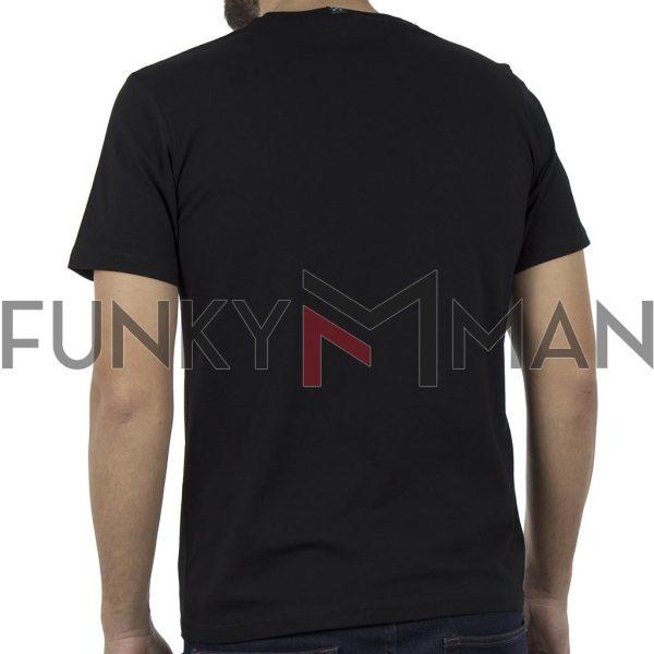 Κοντομάνικο Μπλουζάκι Jersey T-Shirt HOODLOOM HSB-1-7 Μαύρο