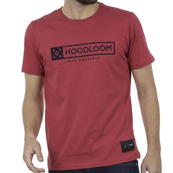 Κοντομάνικο Μπλουζάκι Jersey T-Shirt HOODLOOM HSB-1-7 Κόκκινο