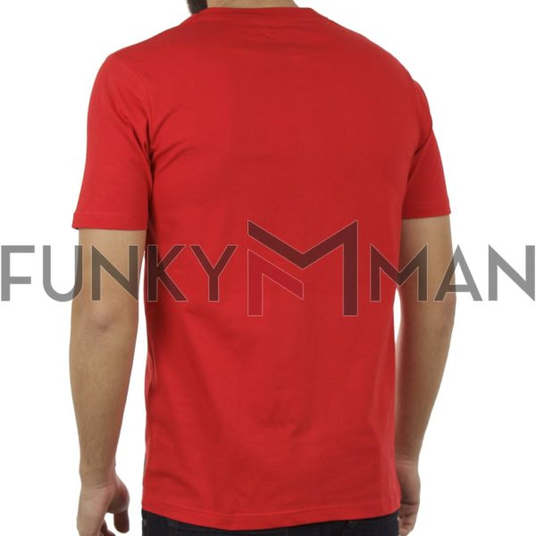 Κοντομάνικη Μπλούζα T-Shirt PONTEROSSO 19-1028 STRIP Κόκκινο