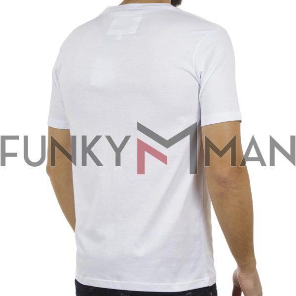Κοντομάνικη Μπλούζα T-Shirt PONTEROSSO 19-1028 STRIP Λευκό