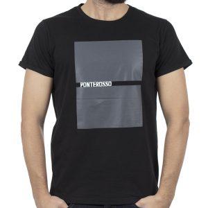 Κοντομάνικη Μπλούζα T-Shirt PONTEROSSO 19-1032 SQUARE Μαύρο
