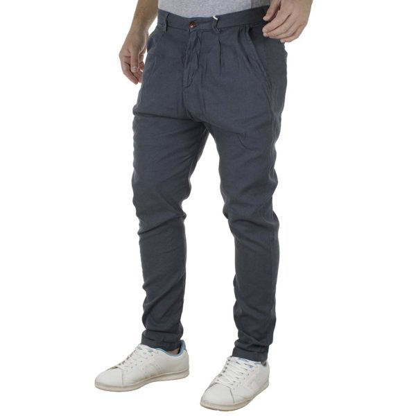 Παντελόνι Chinos Loose Fit REDSPOT HOGAN Steel Grey
