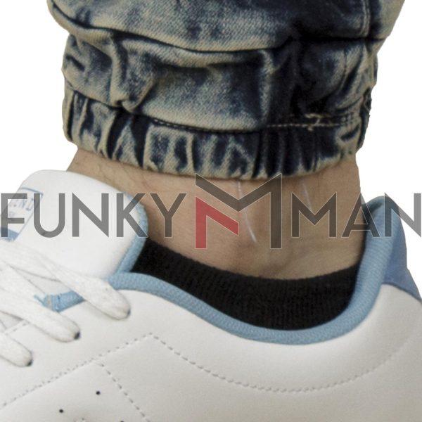 Τζιν Παντελόνι με Λάστιχα REDSPOT LEON Stone Blue