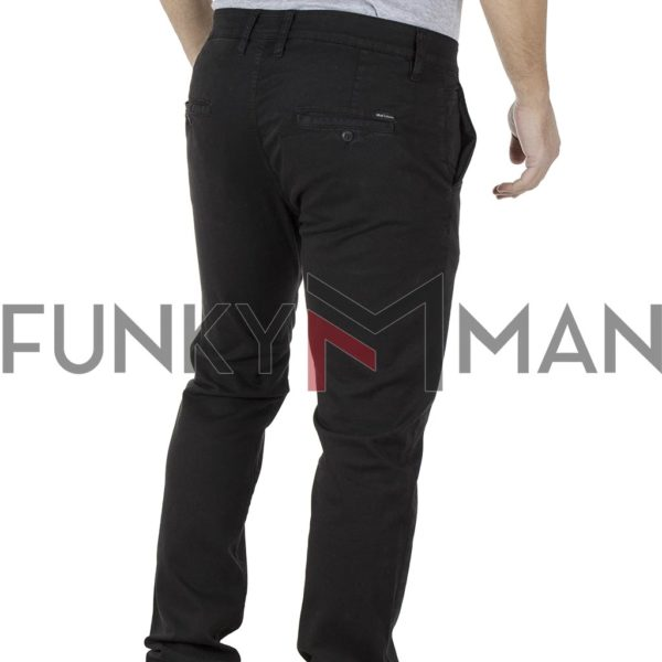 Chinos Υφασμάτινο-Βαμβακερό Παντελόνι SHAFT C5581 Μαύρο