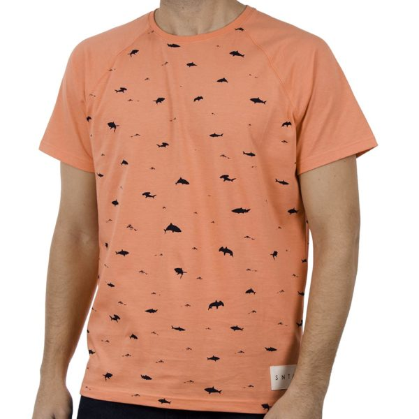 Κοντομάνικη Μπλούζα T-Shirt SNTA SSB-1-22 Κοραλλί