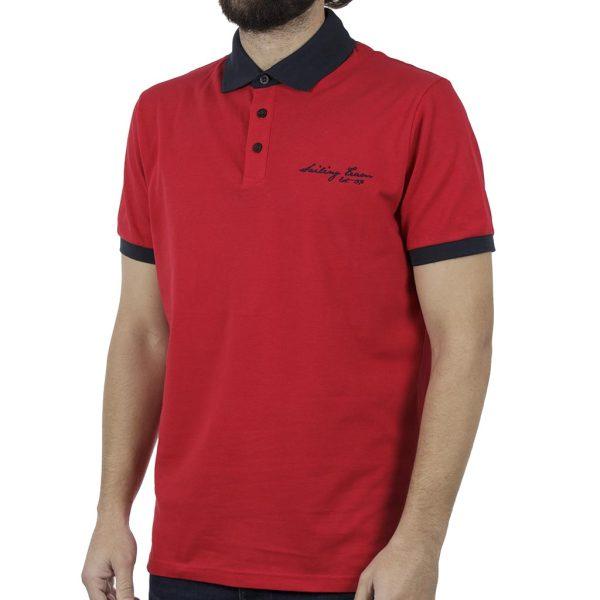 Κοντομάνικη Μπλούζα Polo SNTA SSB-2-45 Κόκκινο