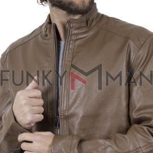 Ανοιξιάτικο Μπουφάν Τεχνόδερμα Jacket SPLENDID 39-201-004 Καφέ
