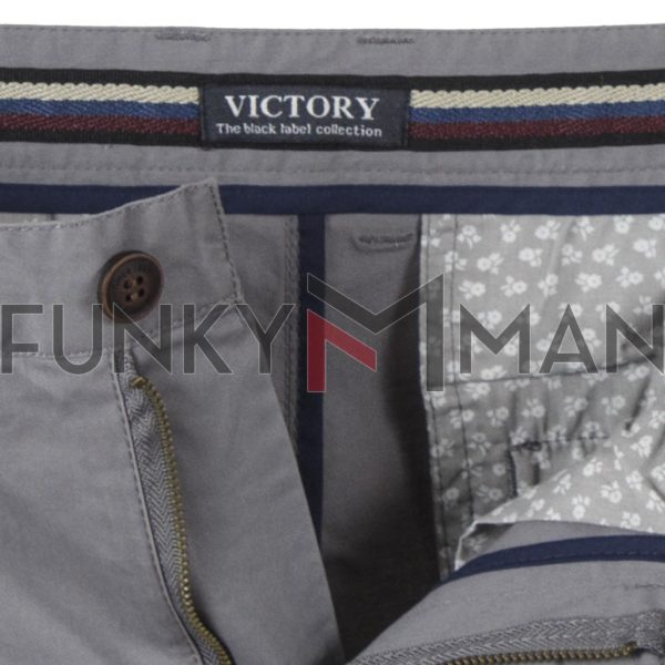 Chinos Παντελόνι Slim Fit VICTORY MAIAMI Γκρι
