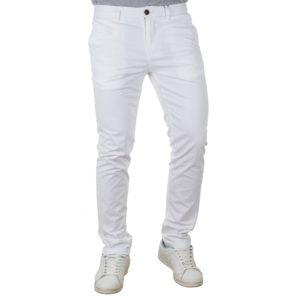 Chinos Παντελόνι Slim Fit VICTORY MAIAMI Λευκό