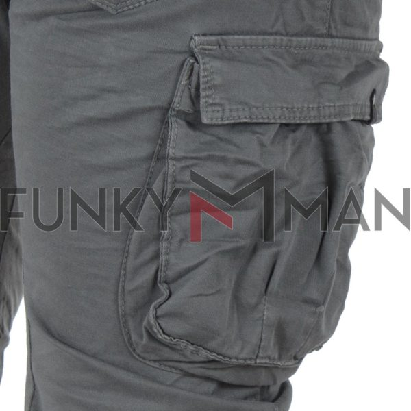 Cargo Παντελόνι με Λάστιχα Back2jeans B16 army Cement