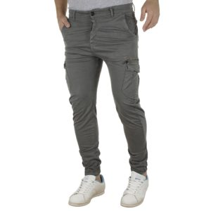 Cargo Παντελόνι με Λάστιχα Back2jeans B19 army Cement