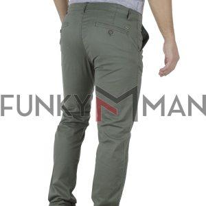 Παντελόνι Casual Chinos DOUBLE CP-219 Χακί