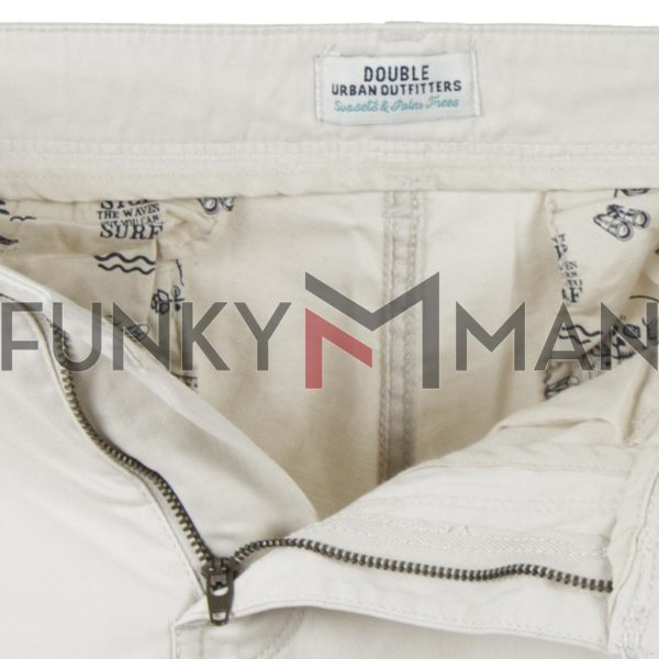 Παντελόνι Casual Chinos DOUBLE CP-219 Λευκό