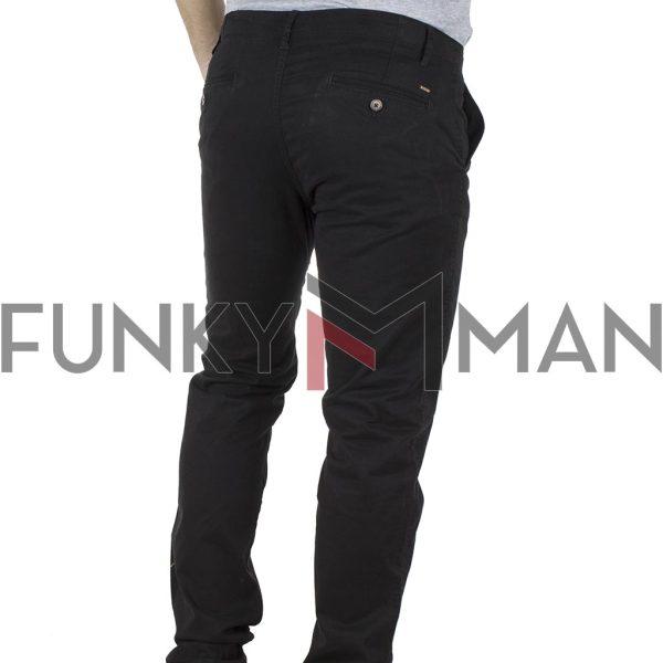 Παντελόνι Casual Chinos DOUBLE CP-219B Μαύρο