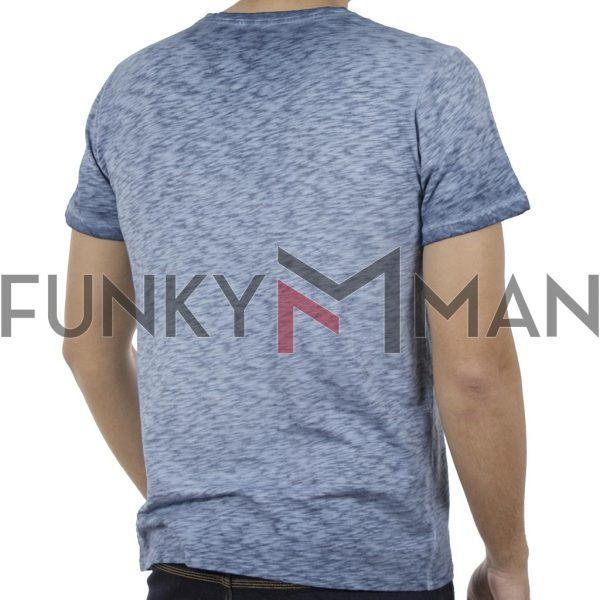 Κοντομάνικη Μπλούζα T-Shirt Back2jeans B17 Sky Blue