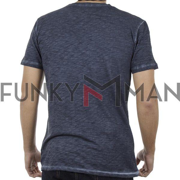 Κοντομάνικη Μπλούζα T-Shirt Back2jeans B18 Navy