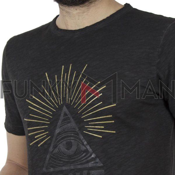 Μακρυά Κοντομάνικη Μπλούζα T-Shirt Back2jeans B22 Ανθρακί