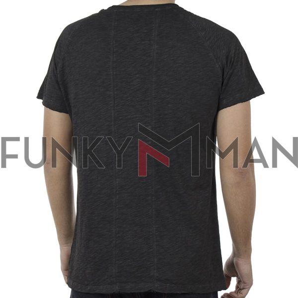 Κοντομάνικη Μπλούζα T-Shirt Back2jeans B30 Ανθρακί