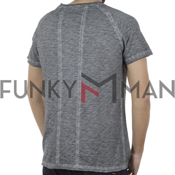 Κοντομάνικη Μπλούζα T-Shirt Back2jeans B30 Γκρι