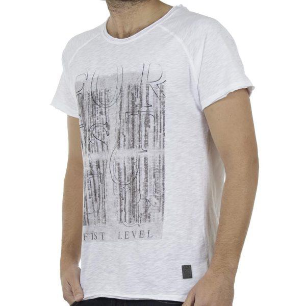 Κοντομάνικη Μπλούζα T-Shirt Back2jeans B30 Λευκό