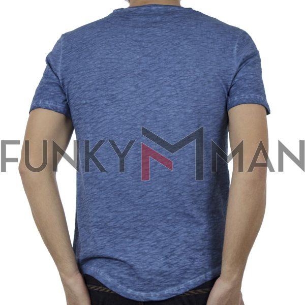 Κοντομάνικη Μπλούζα T-Shirt Back2jeans B4 Μπλε