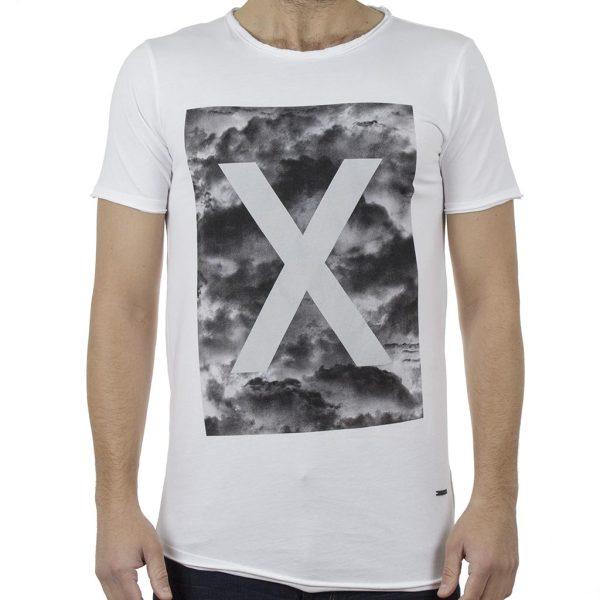 Κοντομάνικη Μπλούζα T-Shirt Back2jeans B46 Λευκό
